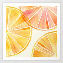 Sunny Citrus Art Print