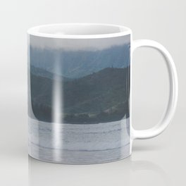 Lone Surfer - Hanalei Bay - Kauai, Hawaii Coffee Mug