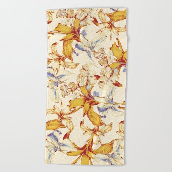 Irisses & Coriander Beach Towel
