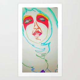 Selfie of a ghost girl Art Print