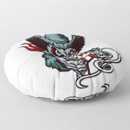 Gamer Skull -  Bermuda Grey Floor Pillow
