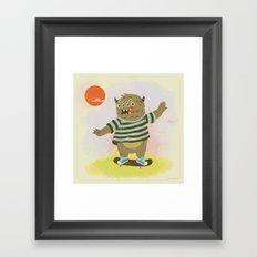 Skate Away Framed Art Print