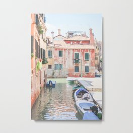 440. Quiet colorful Canal, Venice, Italy Metal Print