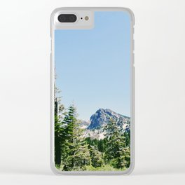 Hiking through the Trees Clear iPhone Case
