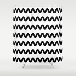 Squiggle pattern Shower Curtain