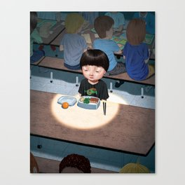 Alone at Lunchtime Canvas Print