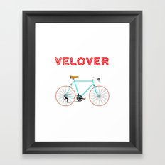 VeLover - Girl – June 12th – 200th Birthday of the Bicycle Framed Art Print