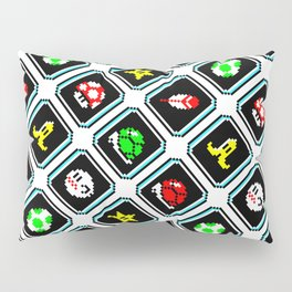 Super Mar!o Kart items retrogaming pattern || clear Pillow Sham