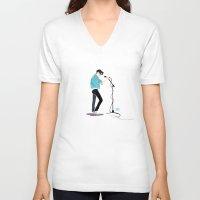 ezra koenig V-neck T-shirts featuring Ya Hey by Galaxyspeaking
