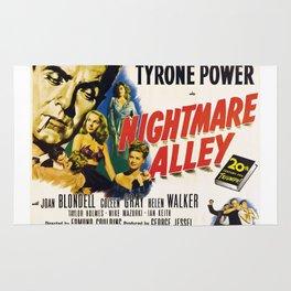 Nightmare Alley, vintage horror movie poster Rug