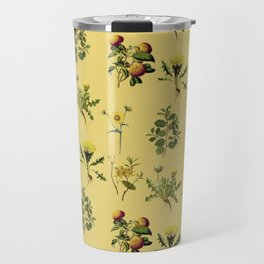 Wild Forest & Field Yellow Flower Herb Pattern Travel Mug
