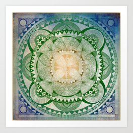 Metta Mandala, Loving Kindness Meditation Art Print