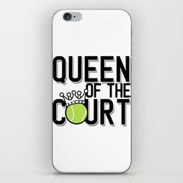 Queen Tennis Tennis Racket Tennis Ball Gift iPhone Skin