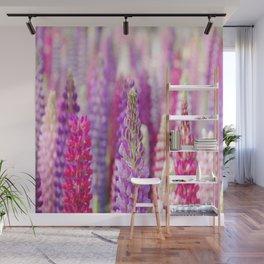 Pink & Purple FLowerS Wall Mural