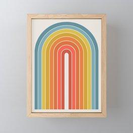 Gradient Arch - Rainbow II Framed Mini Art Print