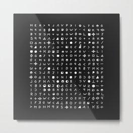 This Is The Zodiac Speaking Metal Print
