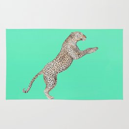Leaping Leopard - Watercolor Rug