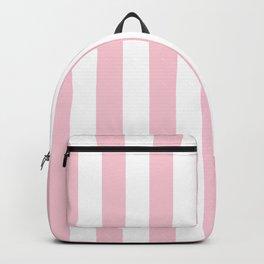 Vertical Stripes Pastel Pink And White Vertical Lines Vintage Geometric Retro Modern Minimal Pattern Backpack