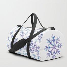 Snowflakes falling Duffle Bag