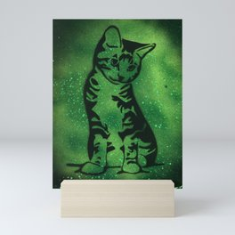 Green Kitten Mini Art Print