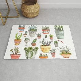 Potted Succulents Rug