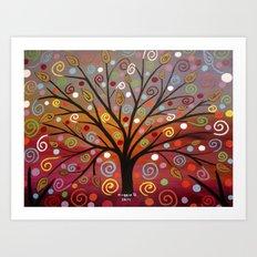 Abstract tree-10 Art Print