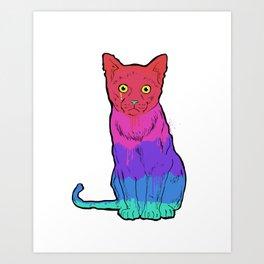 Graffiti Cat Art Print