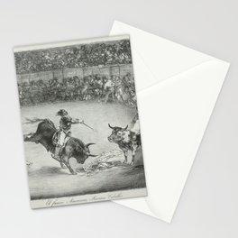 Mariano Ceballos riding a bull from the 'Bulls of Bordeaux',1825 Stationery Cards