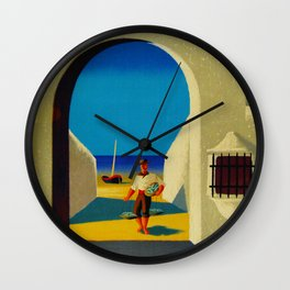 Vintage Spain Travel - Fisherman Wall Clock