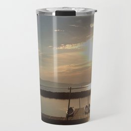 Lake Champlain Ferry to Burlington Vermont at Sunset Travel Mug