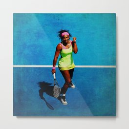 Serena Williams Tennis Celebrating Metal Print