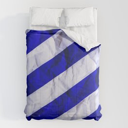 Crumbled Navy Stripes Comforters