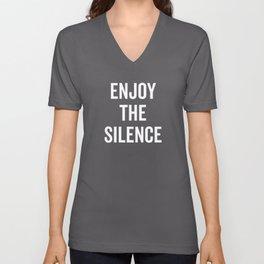 Enjoy The Silence Unisex V-Neck