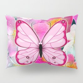 Butterfly and Flowers Pillow Sham