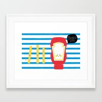 french fries Framed Art Prints featuring French Fries by Marcela Chermont