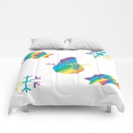 Rainbow Winter Comforters