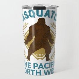Sasquatch The Pacific North West PNW Bigfoot product Travel Mug