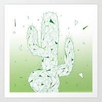 cactus Art Prints featuring Cactus by ARCHIGRAF