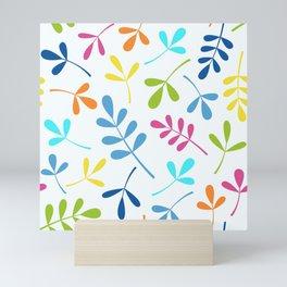 Multicolored Assorted Leaf Silhouettes Mini Art Print