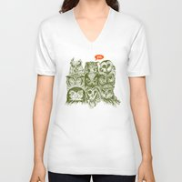 sale V-neck T-shirts featuring Wisdom to the Nines by Rachel Caldwell