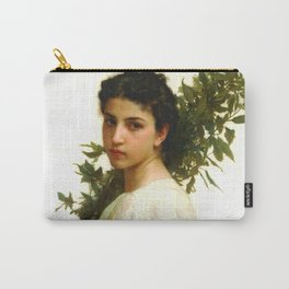 """William-Adolphe Bouguereau """"Laurel Branch"""" Carry-All Pouch"""