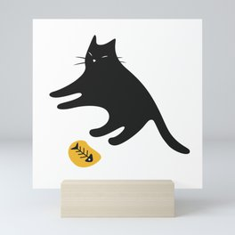 Black Cat Knows You Have More Mini Art Print