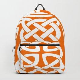 St Patrick's Day Celtic Cross Orange and White Backpack