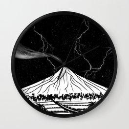 Mayon Volcano Philippines Wall Clock