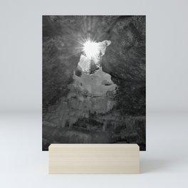 Sunlight in a dark cave Mini Art Print