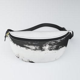 Brushstroke [8] - a simple, abstract, black and white india ink piece Fanny Pack