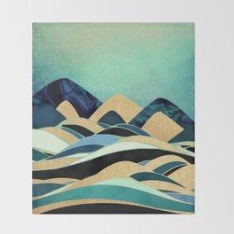 Emerald Evening Throw Blanket