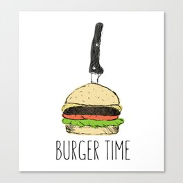 Burger Time sketch Canvas Print