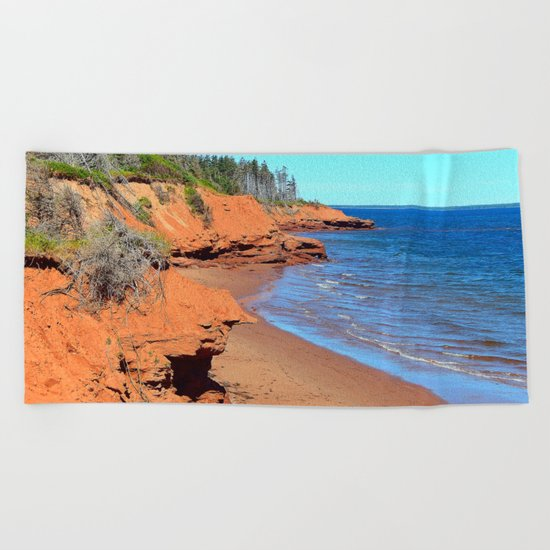Red Cliffs of PEI Beach Towel