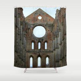 San Galgano Abbey Shower Curtain